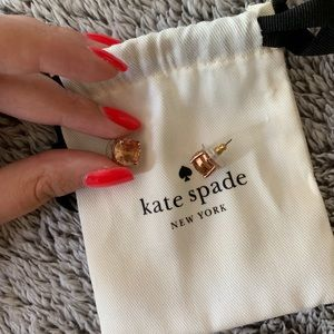 kate space rose gold studs